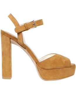 120mm Sashay Suede Sandals