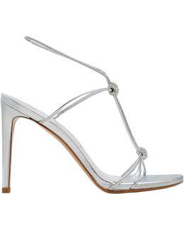 90mm Trixie Swarovski & Leather Sandals