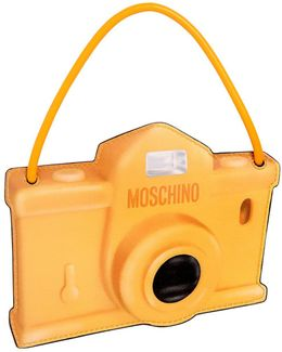 Camera Printed Leather Pouch