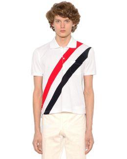 Striped Cotton Piqué Polo Shirt