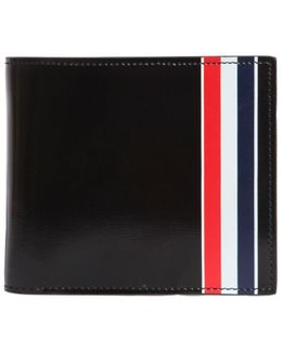 Stripe Printed Brushed Leather Wallet