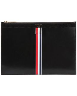Medium Stripe Brushed Leather Pouch