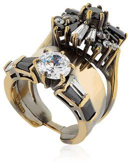 Optical Memento Crystal Ring