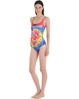 Elephant Tie Dye Lycra Bathing Suit