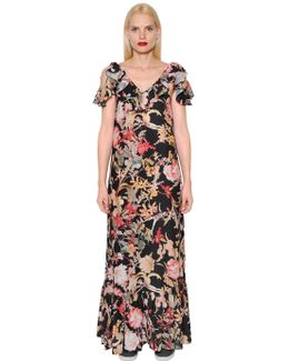 Floral Printed Light Crepe Dress