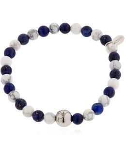 Earth & Sodalite Beaded Bracelet
