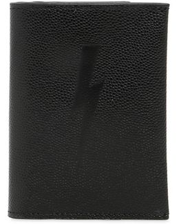 Bolt Embossed Pebbled Leather Wallet