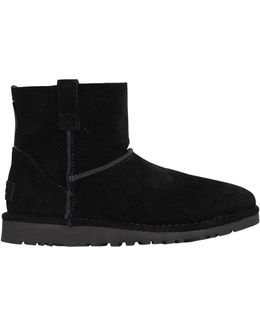 Classic Mini Perforated Suede Boots