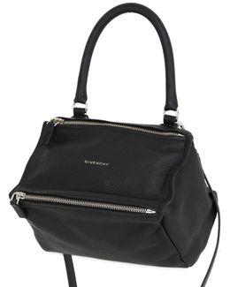 Small Pandora Waxed Leather Shoulder Bag