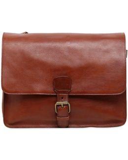 Brushed Leather Messenger Bag