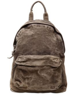 Reverse Leather Backpack