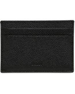 Pebbled Leather Credit Card Holder