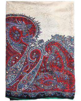 Bombay Paisley Printed Scarf