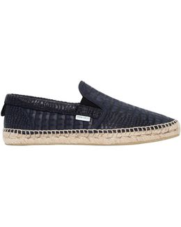Vlad Croc Embossed Leather Loafers