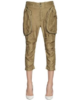 Washed Silk Cargo Pants