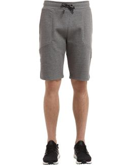 Tech Cotton Blend Sweat Shorts