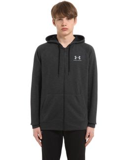 Triblend Hooded Cotton Blend Sweatshirt