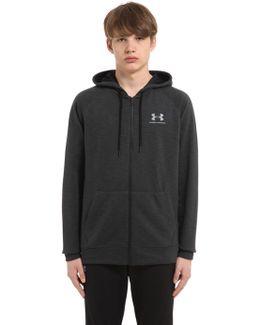 Triblend Hooded Cotton Blend Sweatshirt