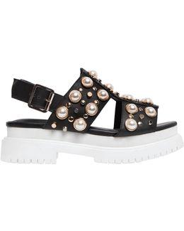50mm Pilos Studded Leather Sandals