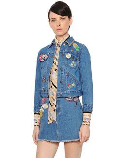 Embellished Cotton Denim Jacket