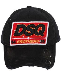 Dsq Patch Cotton Canvas Baseball Hat