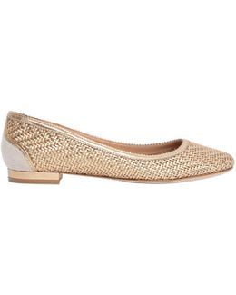 Eracla Woven Nappa Ballerina Flats