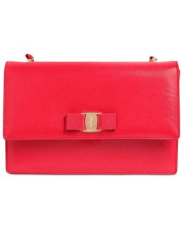 Large Ginny Saffiano Leather Bag