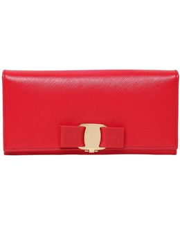 Continental Saffiano Leather Wallet
