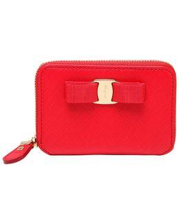 Leather Zip Around Card Holder