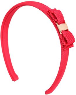 Cotton Grosgrain Headband W/ Bow