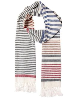 Linen & Silk Striped Scarf
