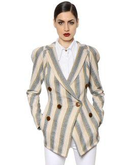 Striped Cotton Canvas Jacket