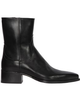 50mm Western Leather Boots