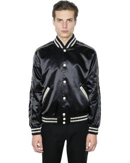 Techno Satin Bomber