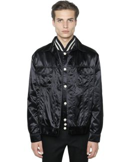 Techno Satin Shirt Jacket