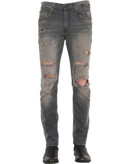 16cm Skate Destroyed Stretch Denim Jeans