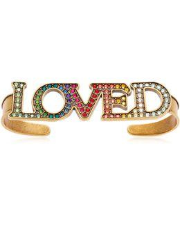 Loved Multicolor Crystals Hand Bracelet