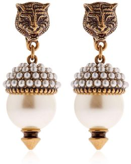 Imitation Pearl Clip-on Earrings