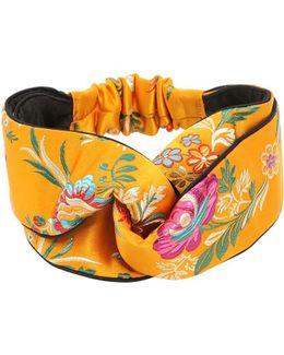 Tokyo Printed Silk Knot Headband