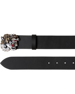 40mm Enameled Tiger Leather Belt
