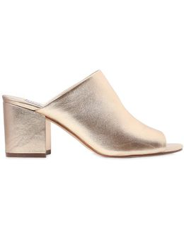 70mm Infinity Metallic Leather Mules