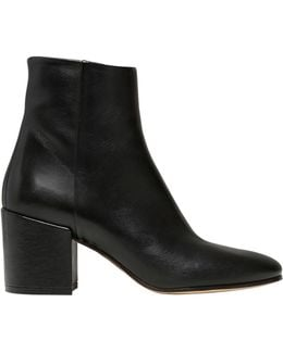 50mm Leather Ankle Boots
