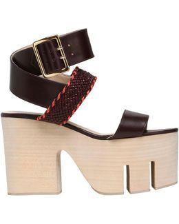 110mm Tokyo Leather Wrap Around Sandals