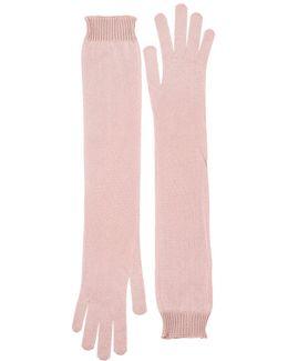 Silk Knit Long Gloves