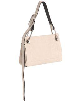 Belted Suede Shoulder Bag