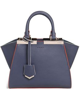 Mini 3jours Contrast Piping Leather Bag