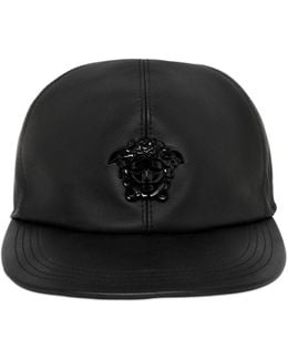 Medusa Leather Baseball Hat