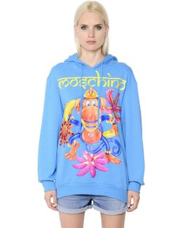 Monkey Print Cotton Jersey Sweatshirt