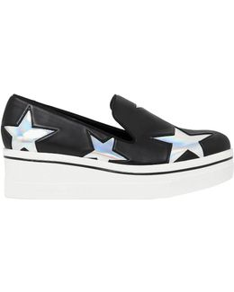 60mm Binx Faux Leather Wedge Sneakers