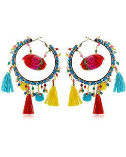 Yucatan Pompom Earrings